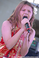 Savannah Robinson, 11,  sings during Santa Monica College's Celebrate America on Saturday, June 26, 2010.