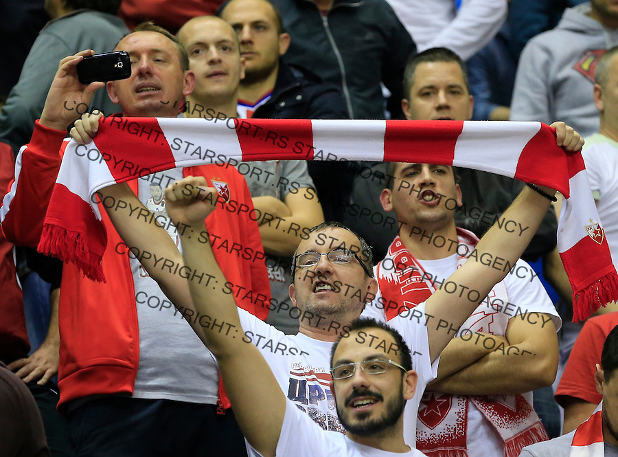 Kosarka Euroleague season 2015-2016<br /> Euroleague <br /> Crvena Zvezda v Real Madrid<br /> Delije navijaci fans supporters flags zastave <br /> Beograd, 27.11.2015.<br /> foto: Srdjan Stevanovic/Starsportphoto &copy;