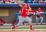 13 March 2016: St. Louis Cardinals infielder Jacob Wilson, ranked the 16th Top Prospect in the Cardinals organization for 2016 by MLB, in action during a pre-season Spring Training game against the Washington Nationals at Space Coast Stadium in Viera, Florida. The teams played to a 4-4 draw in Grapefruit League play. Mandatory Credit: Ed Wolfstein Photo *** RAW (NEF) Image File Available ***