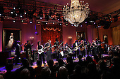 Blues legend B.B. King performs with an all-star cast at a White House event titled In Performance at the White House: Red, White and Blues, February 21, 2012 in Washington, DC.  As part of the In Perfomance series, music legends and contemporary major artists have been invited to perform at  the White House for a celebration of Blues music and in recognition of Black History Month. The program featured performances by Troy &quot;Trombone Shorty&quot; Andrews, Jeff Beck, Gary Clark, Jr., Shemekia Copeland, Buddy Guy, Warren Haynes, Mick Jagger, Keb Mo, Susan Tedeschi and Derek Trucks, with Taraji P. Henson as the program host and Booker T. Jones as music director and band leader..Credit: Win McNamee / Pool via CNP