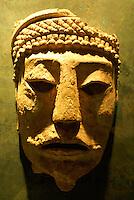 Cabeza de Comalcalco from the state of Tabasco, Mexico. Museo Nacional de Antropologia, Chapultepec Park, Mexico City.