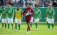 FUSSBALL   DFB POKAL   SAISON 2011/2012  1. Hauptrunde FC Heidenheim - Werder Bremen              30.07.2011 Enttaeuschung bei Torwart Tim Wiese (SV Werder Bremen)