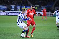VOETBAL: HEERENVEEN: 06-02-16, Abe Lenstra Stadion, SC Heerenveen - FC Twente, uitslag 1-3, Sam Larson, Hakim Ziyech, ©foto Martin de Jong