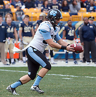 North Carolina punter Tommy Hibbard. The North Carolina Tar Heels defeated the Pitt Panthers 34-27 at Heinz Field, Pittsburgh Pennsylvania on November 16, 2013.