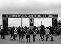 walkway entrance to New Orleans Jazz and Heritage festival