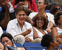 FLUSHING NY- SEPTEMBER 10: Dr Mehmet Oz, Gail King are sighted watching Angelique Kerber Vs Karolina Pliskova during the womens finals on Arthur Ashe Stadium at the USTA Billie Jean King National Tennis Center on September 10, 2016 in Flushing Queens. Credit: mpi04/MediaPunch