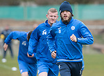 St Johnstone Training&hellip;14.04.17<br />Murray Davidson pictured during training at McDiarmid Park this morning ahead of tomorrow&rsquo;s game against Aberdeen.<br />Picture by Graeme Hart.<br />Copyright Perthshire Picture Agency<br />Tel: 01738 623350  Mobile: 07990 594431