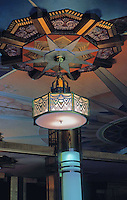 Movie Theatre: Crest Theatre lobby--detail. Los Angeles.