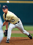 06/16/2006 Georgia Tech's Lee Hyde. .Game one of the College World Series in Omaha, Ne..(photo by chris machian/Prarie PIxel Group)