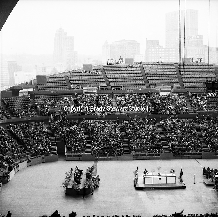 The Civic Arena In Pittsburgh With The Roof Opening 1963 The Brady Stewart Collection