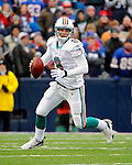 9 December 2007: Miami Dolphins rookie quarterback John Beck in action against the Buffalo Bills at Ralph Wilson Stadium in Orchard Park, NY. The Bills defeated the Dolphins 38-17. ..Mandatory Photo Credit: Ed Wolfstein Photo