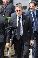 Nicolas Sarkozy, Angela Merkel attend the European People's Party Summit - Belgium