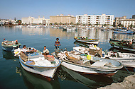 May 7th, 1987. In Melilla, Spanish Morocco. View of Melilla's harbor, fishermen quarters.