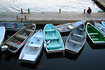 Boats parked at Bar Harbor Maine