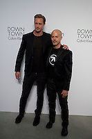 Actor Alexander Skarsgard (L) and designer Italo Zucchelli  Attend the Calvin Klein Collection post show event at Spring Studios on September 12, 2013 New York by VIEWpress