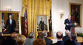 Former United States President Bill Clinton makes remarks at the White House ceremony where his portrait and that of his wife, United States Senator Hillary Rodham Clinton (Democrat of New York) were unveiled at the White House in Washington, D.C. on June 14, 2004.  .Credit: Ron Sachs / CNP