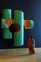 The amazing story telling art decor of the Grand Hyatt Hotel, the Lobby area, Mumbai, India
