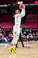 College Park, MD - NOV 16, 2016: Maryland Terrapins forward Kiah Gillespie (15) hits a jump shot during game between Maryland and Maryland Eastern Shore Lady Hawks at XFINITY Center in College Park, MD. The Terps defeated the Lady Hawks 106-61. (Photo by Phil Peters/Media Images International)