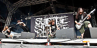 Suicide Silence performing at the No Sleep Til festival at the Melbourne Showgrounds, Melbourne, 17 December 2010