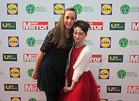 19/05/2015 <br /> (L to r) Roisin Halligan &amp; Alex Fetherston <br /> during the Irish mirror pride of Ireland awards at the mansion house, Dublin.<br /> Photo: gareth chaney Collins