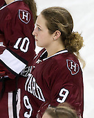 Jackie Young (Harvard - 9) - The Harvard University Crimson defeated the Northeastern University Huskies 4-3 (SO) in the opening round of the Beanpot on Tuesday, February 8, 2011, at Conte Forum in Chestnut Hill, Massachusetts.
