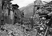 Venzone, Terremoto del Friuli del Maggio 1976.<br /> Venzone, Friuli earthquake in May 1976.