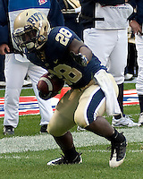 Pittsburgh running back Dion Lewis. The Pittsburgh Panthers defeated the South Florida Bulls 41-14 at Heinz Field, Pittsburgh, PA on October 24, 2009.