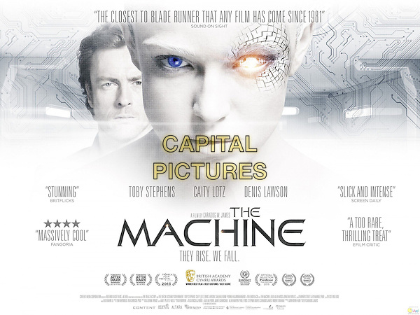 AMERICAN POSTER ART<br /> in The Machine (2013) <br /> *Filmstill - Editorial Use Only*<br /> CAP/FB<br /> Image supplied by Capital Pictures