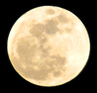 The 'Supermoon' - the nickname for a perigee full moon, rises over Santa Monica. Tonights full moon is the biggest moon of 2012 and will be  16 percent brighter than an average full moon accompanied by unusually high and low tides this weekend and into the new week.  The moon is about 221,802 miles from Earth, about 12.2 percent closer to our planet than when the moon is at apogee, its farthest point. The last time a supermoon occurred was in March 2011.
