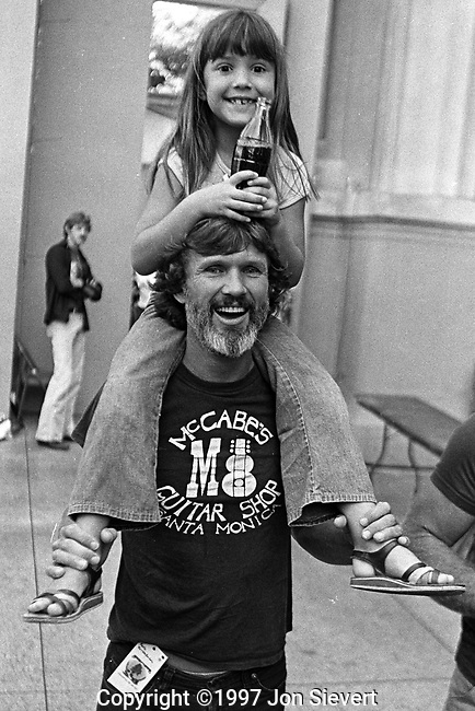 Kris and Casey Kristofferson.Bread & Roses Fesival.Oct 4, 1980.50-7-11