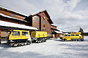 WY00443-00...WYOMING - Snow Lodge at Old Faithful in Yellowstone National Park.