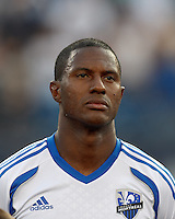 Montreal Impact midfielder Patrice Bernier (8). In a Major League Soccer (MLS) match, Montreal Impact defeated the New England Revolution, 1-0, at Gillette Stadium on August 12, 2012.