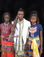 Northern Ethiopians are related to Somali people. They are nomadic villagers who depend on cattle farming. Boys are considered adults at a young age and must protect the family and livestock. At the age of 15 a boy may receive a rifle because there are regular armed conflicts between tribes and these are increasing due to the lack of fertile land.