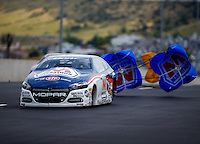Jul 24, 2016; Morrison, CO, USA; NHRA pro stock driver Allen Johnson during the Mile High Nationals at Bandimere Speedway. Mandatory Credit: Mark J. Rebilas-USA TODAY Sports