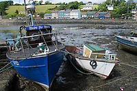 Sheeps Head Peninsula, West Cork, Ireland July 2010. Colourful houses at the town of Bantry. The Sheep's Head Way is an 88 km long distance hiking trail which combines the low, rugged hills and a splendid cliff coastline with quieter roads, paths and tracks to make a complete circuit around the Sheep's Head Peninsula. Photo by Frits Meyst/Adventure4ever.com