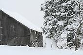 snow covered barn yard