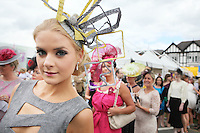 5/8/2010.Blossom Hill Ladies Day. Jill Macken from Dublin is pictured at the Blossom Hill Ladies Day at the Fáilte Ireland Dublin Horse Show at RDS. Picture James Horan/Collins Photos