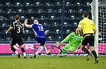 Kilmarnock v St Johnstone....15.01.11  .Conor Sammon scores past Peter Enckelman to make it 1-0.Picture by Graeme Hart..Copyright Perthshire Picture Agency.Tel: 01738 623350  Mobile: 07990 594431