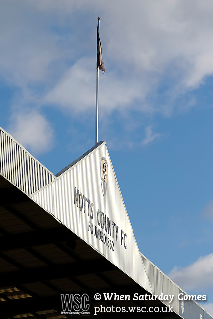 Notts County 0 Mansfield Town 0, 14/01/2017. Meadow Lane, League Two. The Gable of The Jimmy Sirrel Stand. Photo by Paul Thompson.