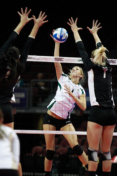 Nov. 23, 2010, Las Vegas, NV: The Hawaii Rainbow Wahine defeated the Idaho Vandals to advance to the championship match of the WAC Tournament at the Orleans Arena in Las Vegas, NV.