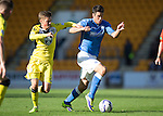 St Johnstone v St Mirren....04.10.14   SPFL<br /> Brian Graham and Thomas Reilly<br /> Picture by Graeme Hart.<br /> Copyright Perthshire Picture Agency<br /> Tel: 01738 623350  Mobile: 07990 594431