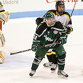 Travis Stevens (PSU - 18), ? - The visiting Plymouth State University Panthers defeated the Wentworth Institute of Technology Leopards 2-1 on Monday, November 19, 2012, at Matthews Arena in Boston, Massachusetts.