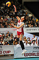 Risa Shinnabe (JPN),.NOVEMBER 17,2011 - Volleyball : FIVB Women's Volleyball World Cup 2011,4th Round Tokyo(A) during match between Japan 3-2 Germany at 1st Yoyogi Gymnasium, Tokyo, Japan. (Photo by Jun Tsukida/AFLO SPORT) [0003].