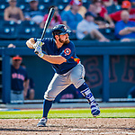 28 February 2017: Houston Astros infielder Tyler White in action during the Spring Training inaugural game against the Washington Nationals at the Ballpark of the Palm Beaches in West Palm Beach, Florida. The Nationals defeated the Astros 4-3 in Grapefruit League play. Mandatory Credit: Ed Wolfstein Photo *** RAW (NEF) Image File Available ***