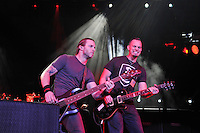 LONDON, ENGLAND - NOVEMBER 24: Brian Marshall and Mark Tremonti of 'Alter Bridge' performing at the O2 Arena on November 24, 2016 in London, England.<br /> CAP/MAR<br /> &copy;MAR/Capital Pictures /MediaPunch ***NORTH AND SOUTH AMERICAS ONLY**