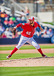 28 February 2017: Washington Nationals pitcher Oliver Perez in Spring Training action during the inaugural game against the Houston Astros at the Ballpark of the Palm Beaches in West Palm Beach, Florida. The Nationals defeated the Astros 4-3 in Grapefruit League play. Mandatory Credit: Ed Wolfstein Photo *** RAW (NEF) Image File Available ***