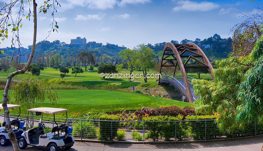 Golf Course, Tee Box, Teeing Ground, Carts, Wooden Bridge, Bag, Clubs, Golf Course, Tee Box, Teeing Ground, Panorama  Panorama