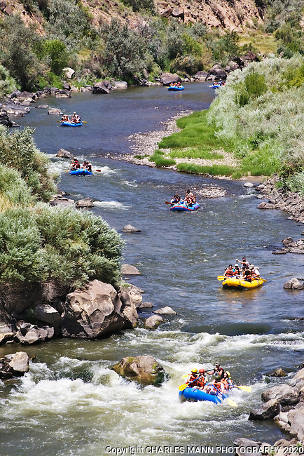 Rafting and kayaking on the Rio Grande near Taos is a New Mexico summer tradition.