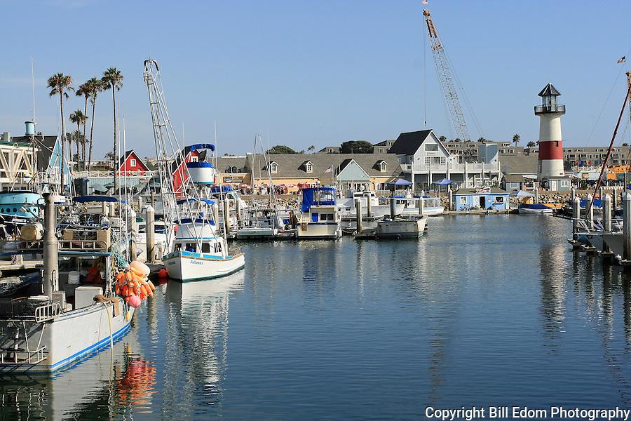 Oceanside, California Harbor on a beautiful, sunny day.
