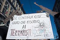 Roma  15 Ottobre 2011.Manifestazione contro la crisi e l'austerità.